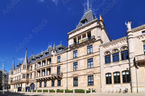 Valokuva  Grand Ducal Palace and the Chamber of Deputies Luxembourg city Grand Duchy of Luxembourg