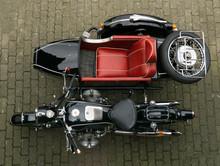 Motorrad Oldtimer Gespann BMW