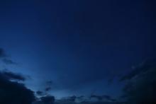 Black Cloud On Blue Night Sky