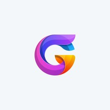 Abstract G Color Concept Illustration Vector