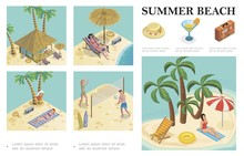 Isometric Summer Vacation Comp...
