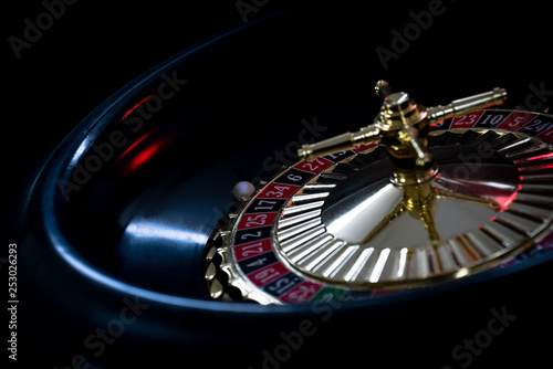 High contrast image of casino roulette Fototapeta