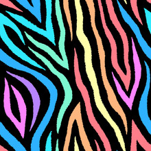 Colorful Abstract Zebra Seamle...
