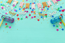 Party Colorful Confetti With N...