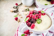 Semolina Porridge With Fresh Berries
