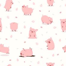 Cute Pink Pig Set Pattern