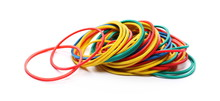 Colorful Rubber Bands Isolated...