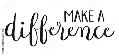 MAKE A DIFFERENCE hand lettering banner