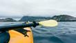 Close-up of Kayak, Traveling in Norway