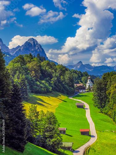 Fotografie, Obraz Wamberg village, Bavaria, Germany
