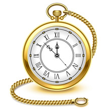 Vintage Gold Pocket Watch And ...