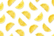 Fruit Pattern Of Lemon Slices