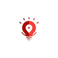 Pin Map Locations Logo Lightbu...