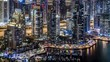 Dubai Marina Night Timelapse 4K