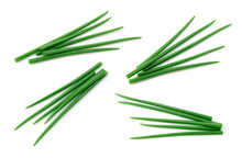 Chives Isolated. Young Green O...