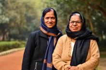 Two Senior Indian Women Friend...