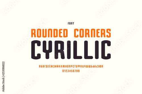 Fotografie, Obraz  Narrow cyrillic sans serif font with rounded corners