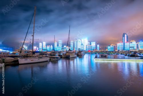 Garden Poster London Nightscape of Fushan Bay, Qingdao..
