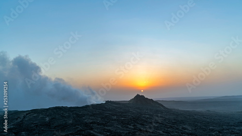Erte Ale is an active volcano in North Eastern Ethiopia close to Eritrean border Tableau sur Toile