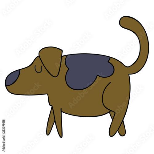 Deurstickers Stierenvechten quirky hand drawn cartoon dog