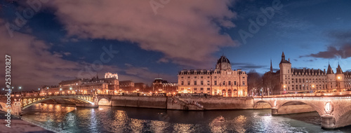 Poster de jardin Paris Panoramic of Paris - Island of city