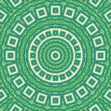 Sea Green Mosaic Tiles Seamles...