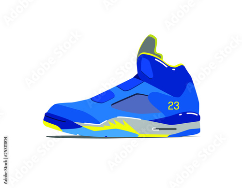 NBA Basketball Shoe Canvas Print