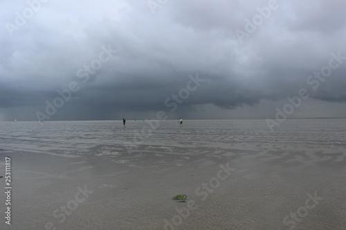 Valokuva  Wetter über dem Wattenmeer