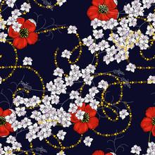 Modern Floral Design. Hand Dra...