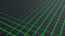 3d Illustration Dark Grey Squares And Green Framing Modern Background