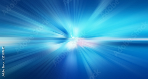 Fotografiet  Abstract radial zoom motion design gradient blur