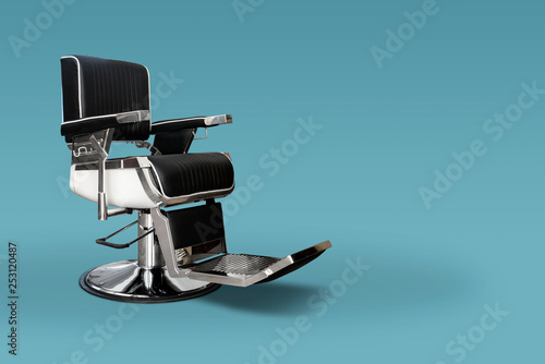 Barber chair with copy space
