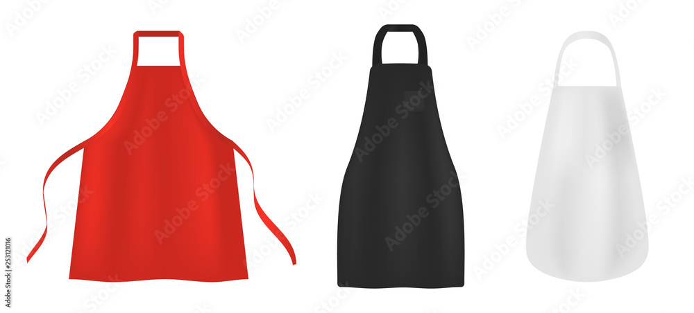 Fototapeta Apron icons set. Realistic set of apron vector icons for web design isolated on white background