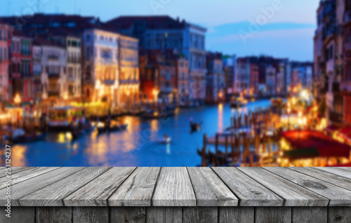 Poster Amsterdam Empty wooden table background