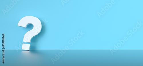 Fotografia  colored question mark background concept. 3D Rendering.