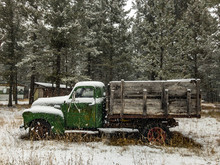 Antique Truck With Wooden Bed ...