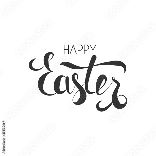 Fotografie, Obraz  Calligraphy Easter phrase in black collor isolated on white background