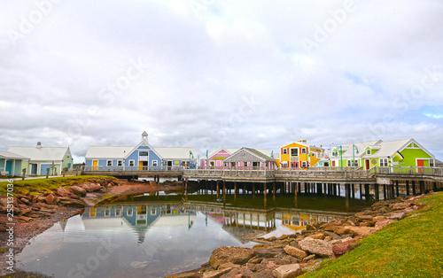 Fotografie, Obraz  Colourful Buildings at Summerside, Prince Edward Island, PEI, Canada