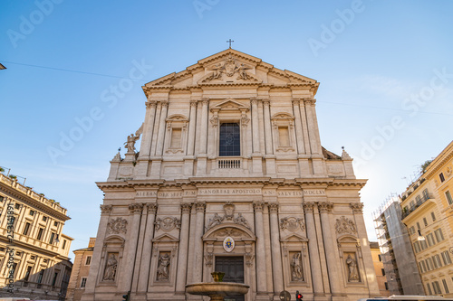 Photo View at Sant'Andrea della Valle church in Rome, Italy
