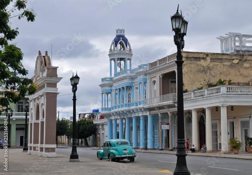 Palacio Ferrer, Stadtansicht, Cienfuegos, Kuba Canvas Print