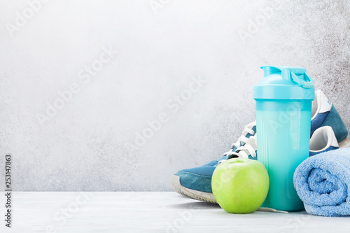 Fitness and healthy food concept