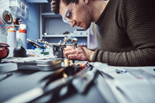 Electronic Technician Working