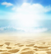 Summer beach background. Sand, sea and sky. Summer concept.
