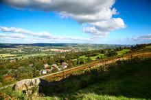 Landscape View Of Ilkley Moor West Yorkshire UK