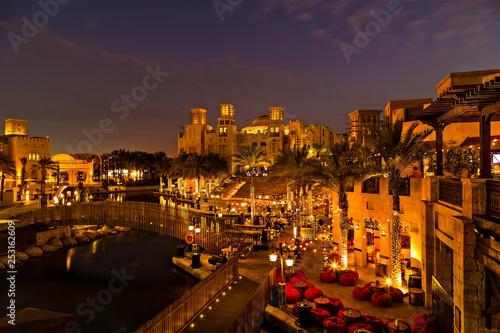 фотография  Street Cafe on Restaurant Terrace Dubai - UAE.