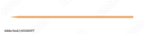Fotografía skewers wooden bamboo pointed tip stick thin isolated on white background, wood
