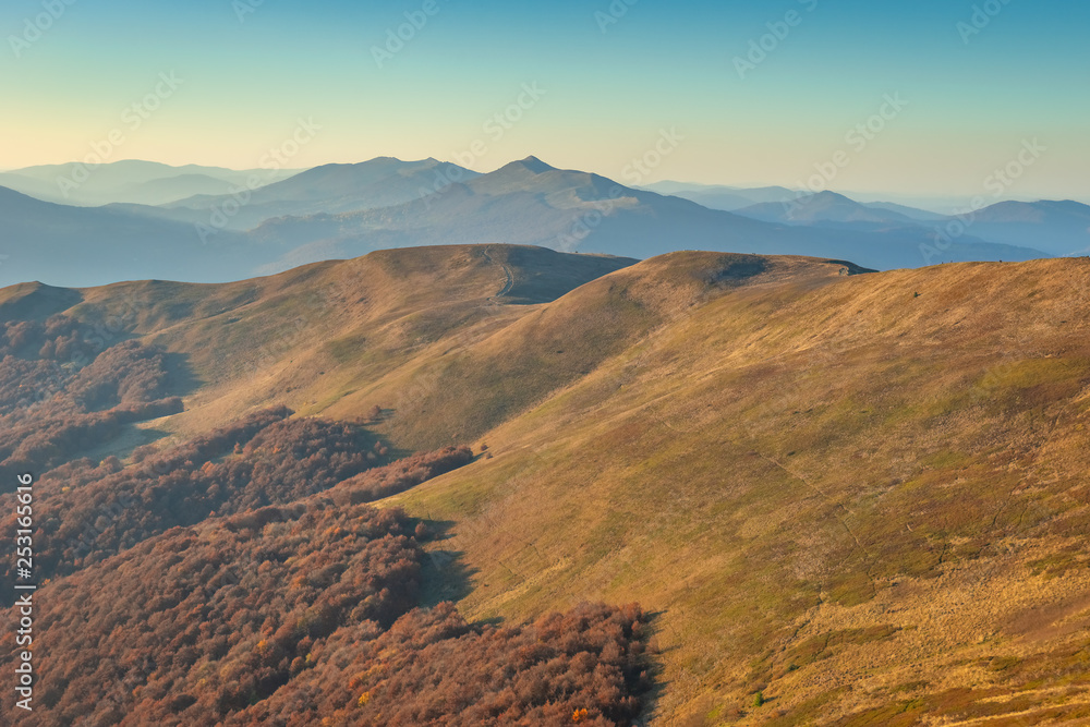 Fototapety, obrazy: Bieszczady. Beautiful mountain landscape in autumn. Poland