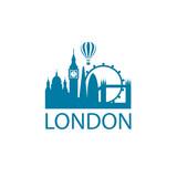 Fototapeta Londyn - illustration of london landmark isolated on white background