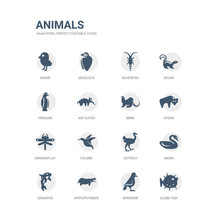 Simple Set Of Icons Such As Gl...