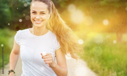 Poster de jardin Jogging Active activity adult athlete athletic autumn caucasian